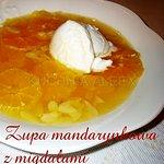 Mandarynkowa zupa z migdałami wg Aleex