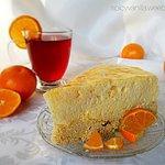 Skinny tangerine mousse cake | Niskokaloryczna mandarynkowa pianka