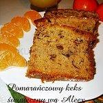 Pomarańczowy keks świąteczny z bakaliami wg Aleex