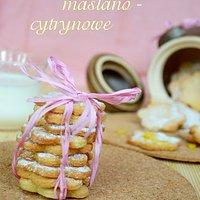 Ciastka maślano - cytrynowe