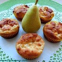 Muffinki owsiane z gruszkami
