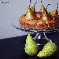 Razowe ciasto z gruszkami i prawdziwą wanilią