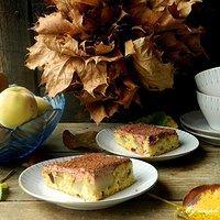 Ciasto z gruszkami i kremem czekoladowym