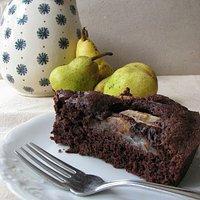 Ciasto czekoladowe z gruszkami (na kawie amaretto)