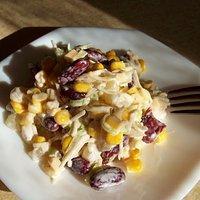 Salatka Z Kurczakiem Ananasem I Czerwona Fasola Przepisy Kulinarne