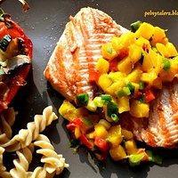 Pstrag Grillowany Z Salsa Mango Przepisy Kulinarne Mikser Kulinarny