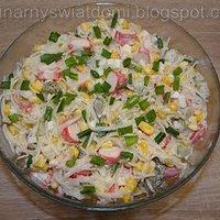 Salatka Z Makaronem Ryzowym I Szczypiorkiem Przepisy Kulinarne